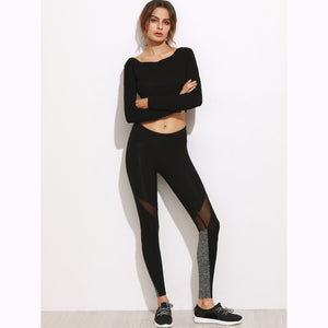 New Sexy Yoga Stretch Mesh Leggings