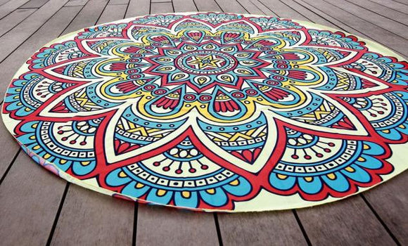 New Round Beach Towel & Yoga Mat