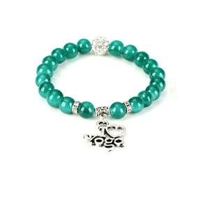 New I Love Yoga Bracelet