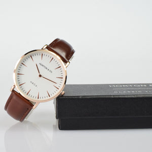 Classic Tan with Gold Case