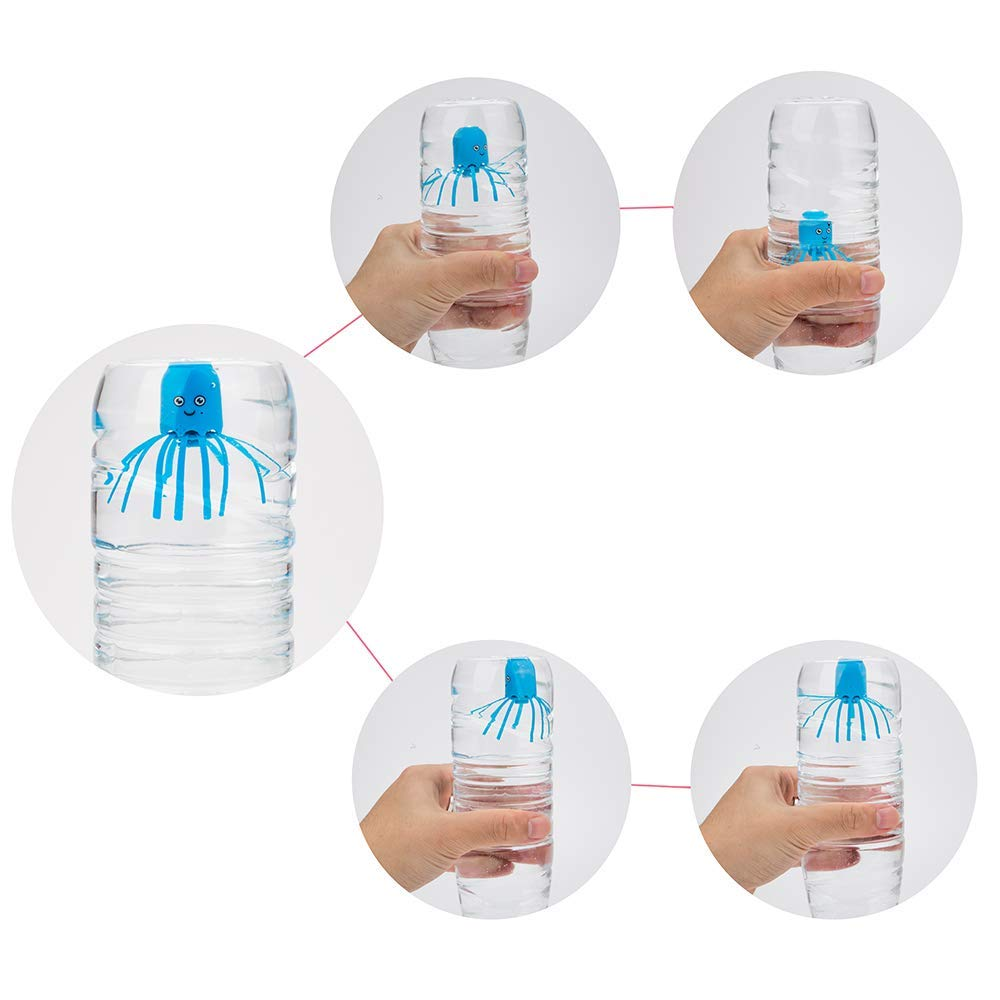 PROLOSO 4 Pack Jellyfish Hydrodynamic Float Rotating Bath Toys Early Learning