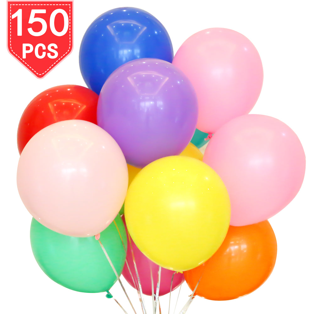 PROLOSO 150 Latex Balloons Assorted Colors 12 Inches Party Supplies