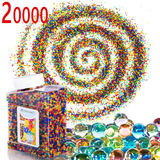 PROLOSO Gel Water Beads Rainbow Mix, (20,000/40,000 beads) for Sensory Toys, Watering Plants and Decor