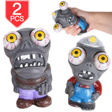 PROLOSO Eye Popping Zombies Poppin Peepers Fidget Squishy Toys for Anxiety Reduction Stress Relief 2 Pcs