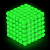 PROLOSO Glow in the Dark Buckyballs Magnetic Ball Sculpture Toys for Intelligence Development and Stress Relief (5mm Set of 216 Balls)