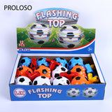 PROLOSO Spinning Top LED Toys Light Up Rotary Desktop Gyro 12 Pcs