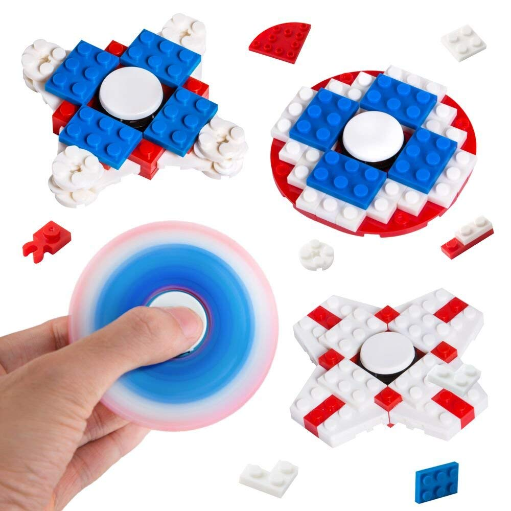 PROLOSO Building Bricks Finger Gyro DIY Hand Toy for Relieving Boredom ADHD, Anxiety 3PCS/3PCS/2PCS