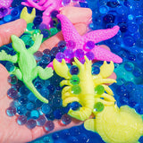 PROLOSO Water Growing Sea Creatures Animals & Water Beads Set | 30Pack + 10000Pcs | Expandable Oceanic Animals Fun In The Bathtub | Educational & Learning Toy For Toddlers Children Boys & Girls Gift