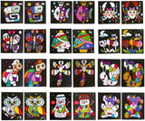 PROLOSO DIY Painting with Stickers Drawing for Kids Animal Cartoon Stickers Mosaics Creative Toy