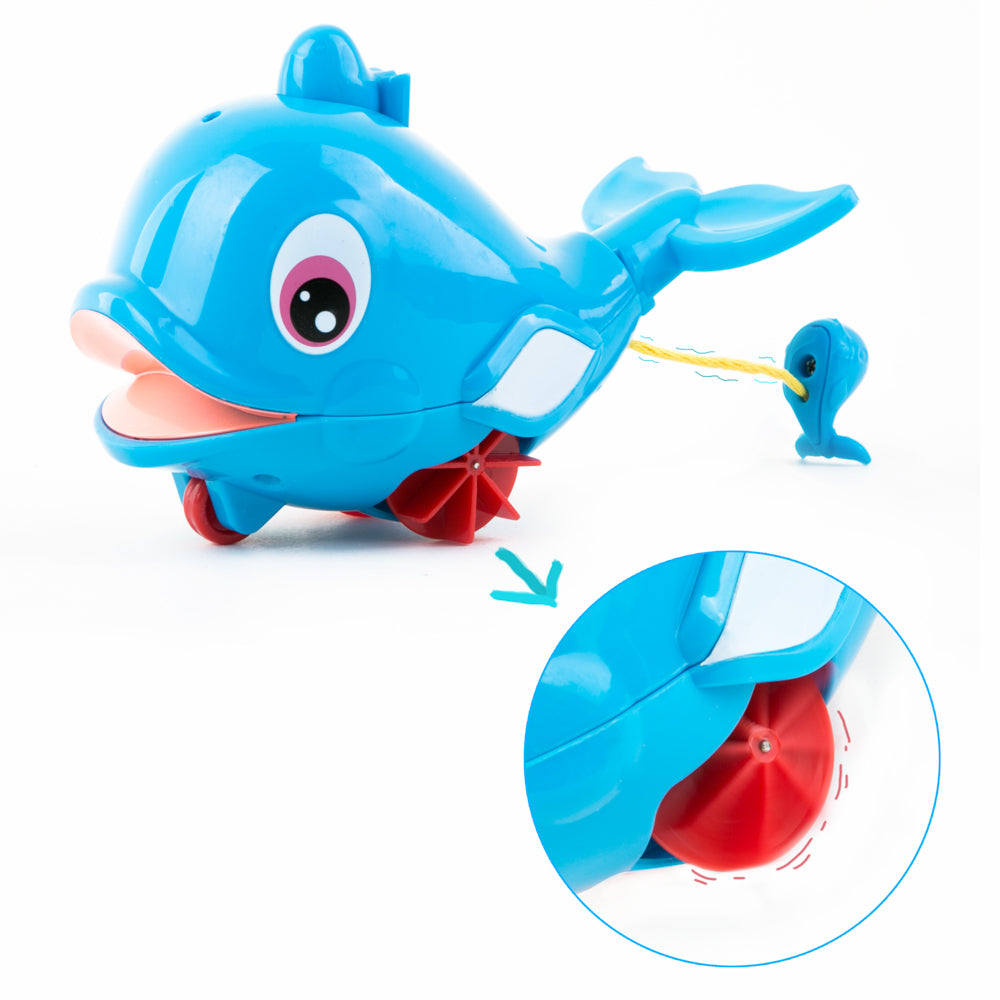 PROLOSO 6 Pack Wind Up Toys Bathtub Wire Pulling Dolphin Kids