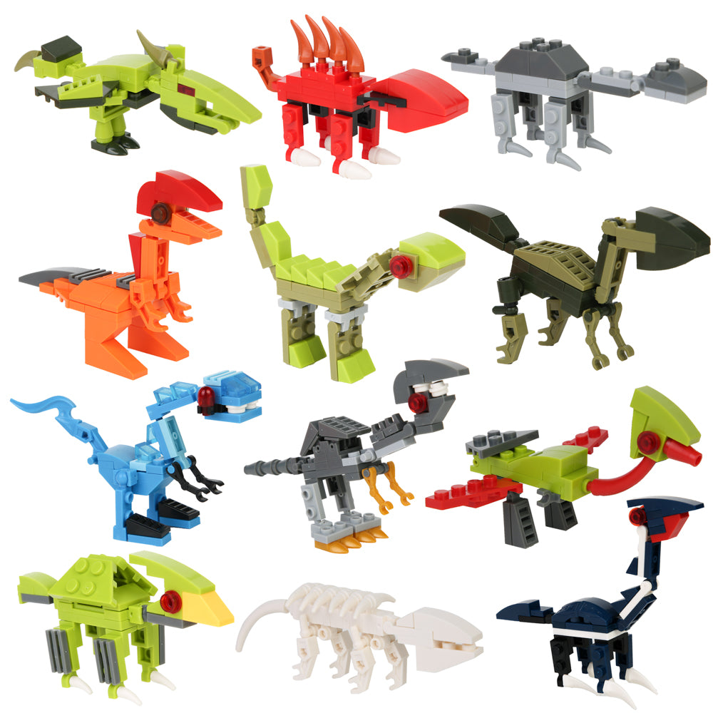 PROLOSO Easter Eggs Building Blocks Dinosaur Toys Bricks Jurassic World T-rex Models Pack of 12