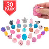 PROLOSO Squishy Fidget Toys Noctilucence Squeeze Animal Stress Relief 30 Pcs