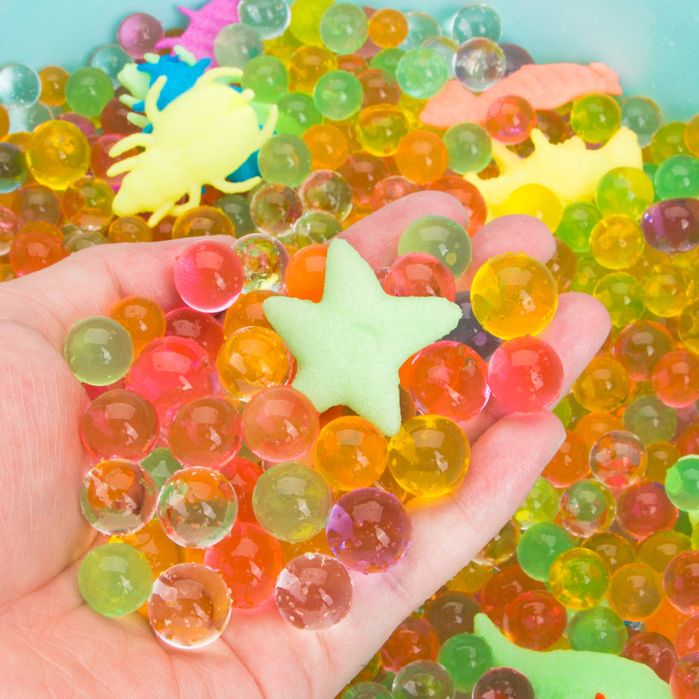 PROLOSO 40 Packet Water Growing Animals Expandable Sea Creatures with Crystal Water Beads