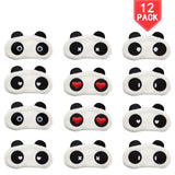12 Pack Sleep Masks Panda Blindfold Eyepatch Eyeshade with Elastic Strap Nap Cover