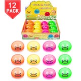 PROLOSO 12 Pack Vomiting Eggs Sucking Yolk Squeeze Stress Relief Fidget Gag Toys