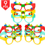 PROLOSO Building Block Brick Glasses DIY Toys Pack of 9