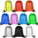 PROLOSO Drawstring Bags Bulk Sports Gym Backpack Pull String Bags Cinch Tote Sacks for Traveling Storage 10 Pcs