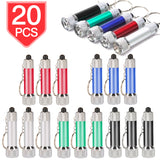 PROLOSO Mini LED Flashlight Keychains Torch Key Rings Bulk Party Favors for Kids 20 Pack