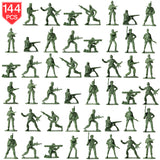 PROLOSO Toy Soliders Green Army Men Action Figures Plastic Army Men Sets Military Toys Various Poses Bulk Pack of 144