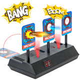 PROLOSO Electronic Digital Target Auto Reset Shooting Game for Nerf Guns N-Strike Elite Darts/Mega/Rival Series Blaster