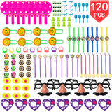 PROLOSO Party Favors Assorted Toys 120 Pieces