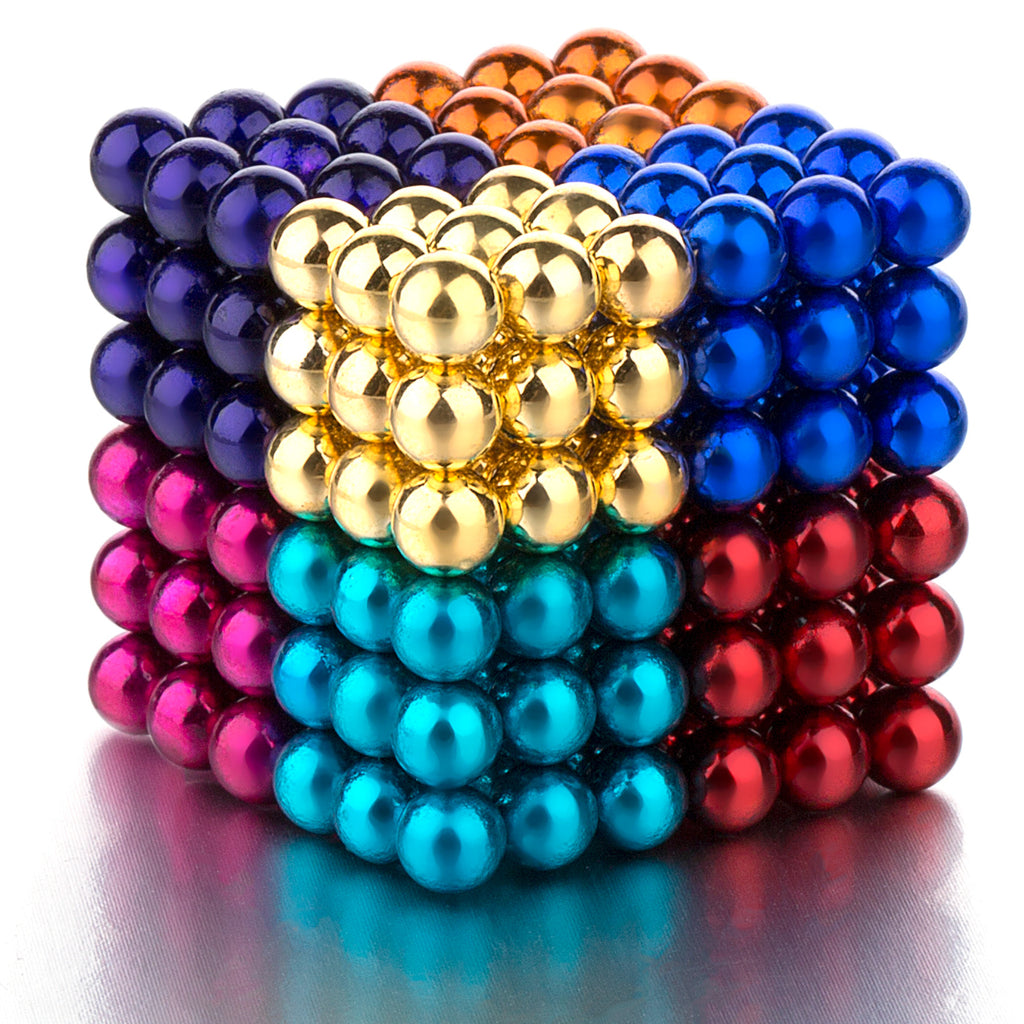 PROLOSO Buckyballs Magnetic Ball Sculpture Toys for Intelligence Development and Stress Relief (5MM Set of 216 Balls), 6/8 Colors