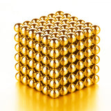 PROLOSO Buckyballs Magnetic Ball Sculpture Toys for Intelligence Development and Stress Relief (5MM Set of 216 Balls), Gold/Sliver