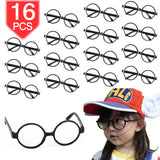 PROLOSO Plastic Wizard Glasses Round Glass Frame No Lenses Kids Toy Glasses 16 Pcs