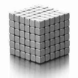 PROLOSO Magic Cube Puzzle Buckyballs Multi-use Blocks Toys Metal (216pcs,0.2