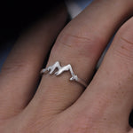 Minimalist Mountain Range Ring For Travel Lovers
