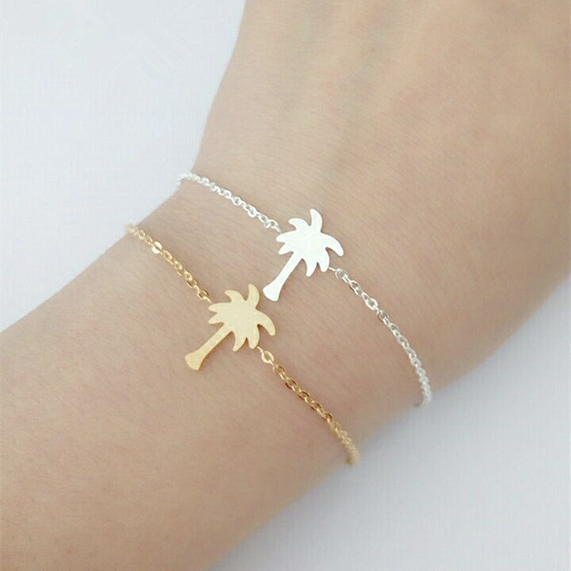 Tropical Palm Tree Charms Bracelet For Nature Lovers