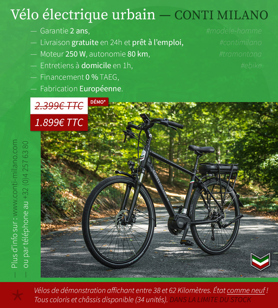 Conti Milano Ebike visuel homme - demonstration