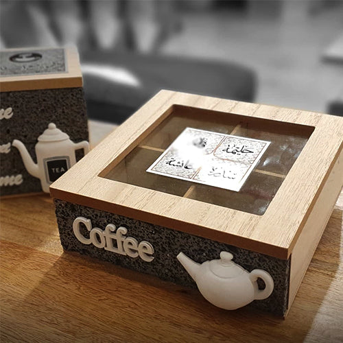 Coffee box wooden (Set of 2)