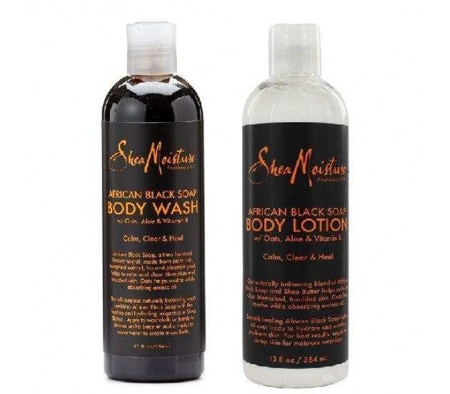 SheaMoisture , African Black Soap Body Wash and Lotion  384ml