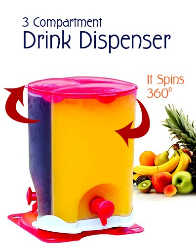 3 Compartment Drink Dispenser - DShopick Qatar Online Shopping