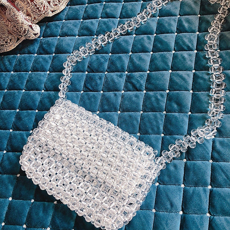 New Acrylic Beaded Woven Bag