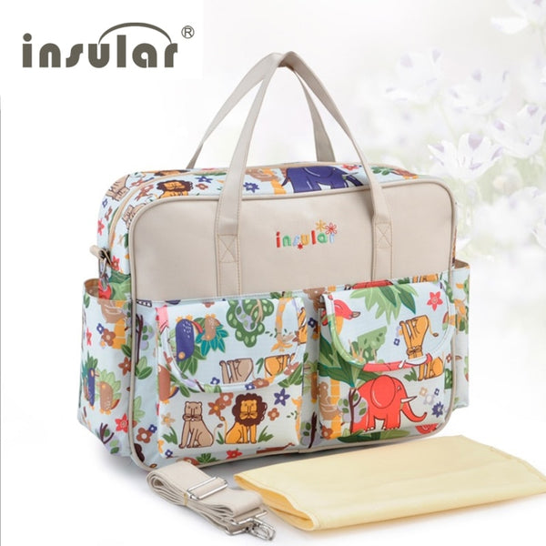 Lovely multicolored baby diaper bag Large-capacity fashionable mother's maternity bag