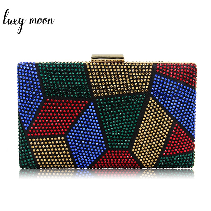 Luxury Multicolour Rhinestone Evening Bags