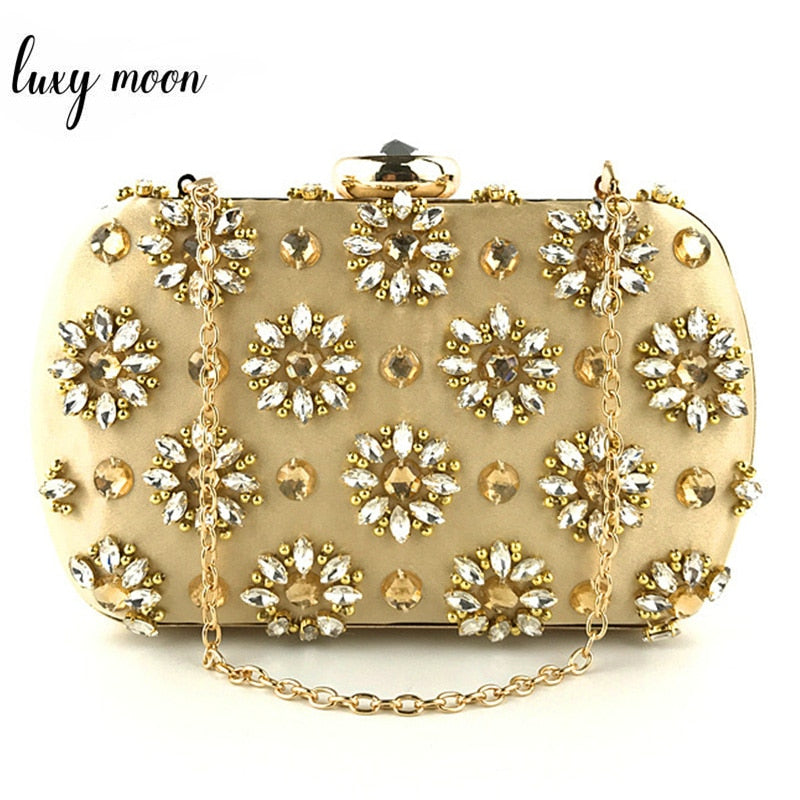 New Women Clutch Bag Luxury Rhinestone Evening Bags Fashion