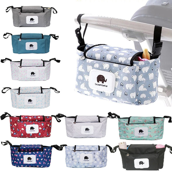 Organizer Bag Mummy Diaper Bag Hook Baby Carriage Waterproof Large Capacity