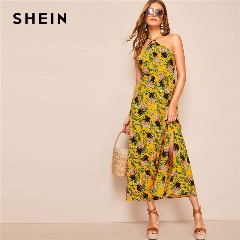 Maxi Dress Women Casual High Waist A line Long Dress
