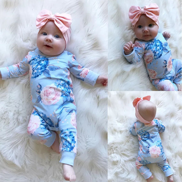 Fashion Floral Newborn Baby Girl Romper