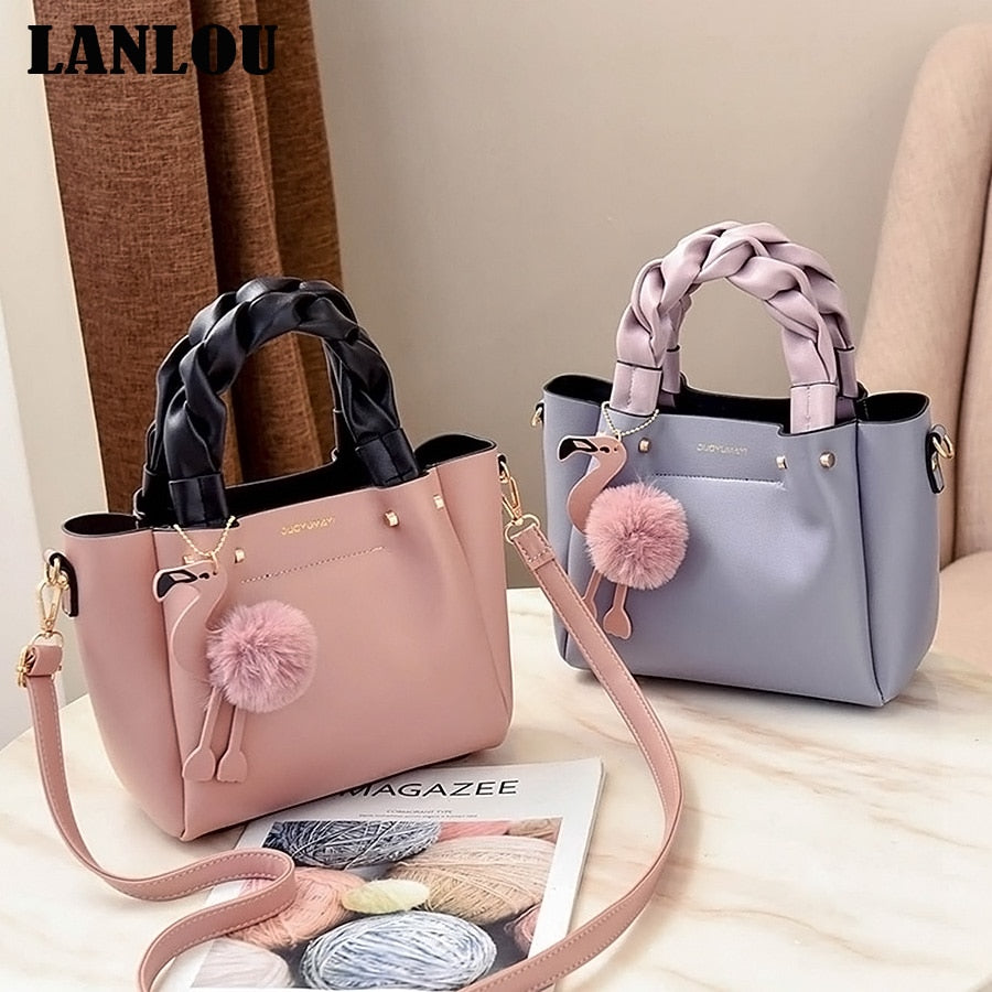 LANLOU Hairball Flamingo Shoulder bags