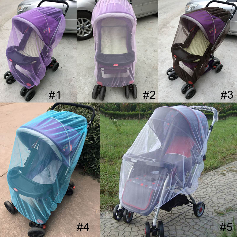 summer Baby Stroller Pushchair Mosquito Net Insect Shield  Safe Infants Protection