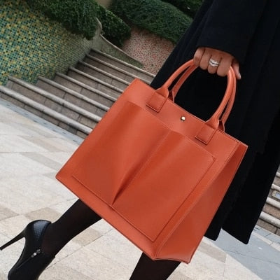 Women Large Totes Leather Handbag