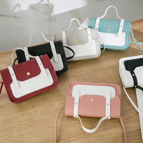 2019 Summer Fashion Women Shoulder Bag Mini Leisure Matching Color Square Shape Messenger Bags PU leather Handbags Clutch Bag