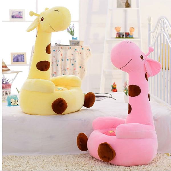Soft Material Baby Giraffe Cartoon Sofa 70*50cm Children Seat Kids Animal Chair