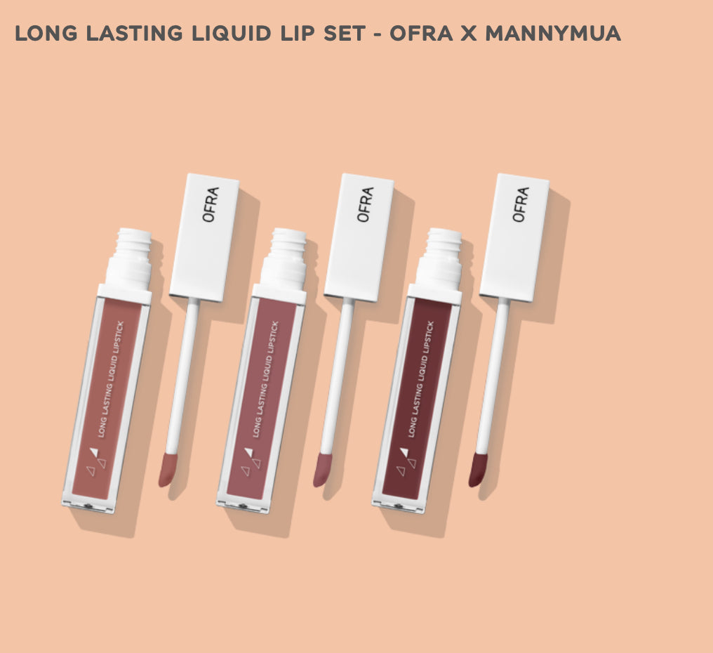 Long Lasting Liquid Lip Set - OFRA X MANNYMUA