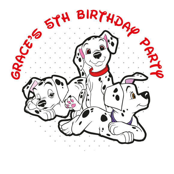101 Dalmatians Party Box Stickers