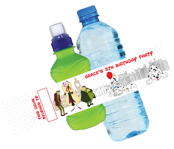 101 Dalmatians Bottle Wrappers